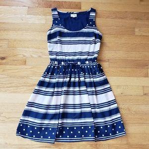 Maison Jules Blue and White Dress